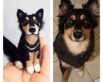 Custom needle felted dog ornament, Custom dog portrait, Dog lover gift, Dog memorial