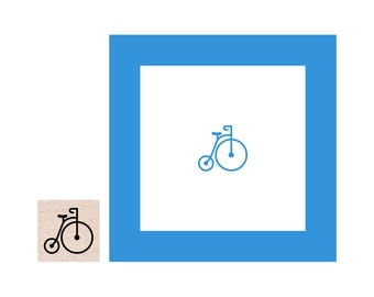 Mini Old Fashioned Bicycle Rubber Stamp