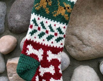 Knit Christmas Stocking for your Dog
