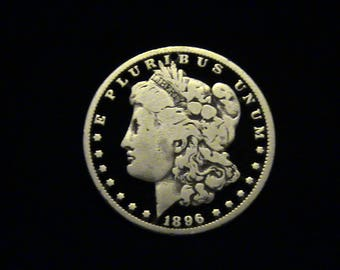 US Morgan Silver Dollar - 1896 - SILVER