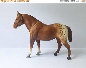 SALE Breyer Horse Horse Figurine Vintage Breyer Horse Appaloosa Gelding Horse Brown Horse Horse collectible