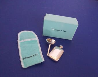 FREE SHIPPING- Vintage Tiffany & Co. Complete Perfume Flask, Funnel, Bag and Box