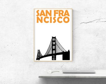 San Francisco Print // San Francisco Art // California Print // Golden Gate Bridge Print // San Francisco Poster // California Art