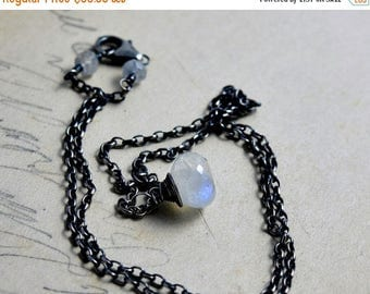 Moonstone Jewelry, Moonstone Necklace, Gemstone Pendant, Gemstone Jewelry, Rainbow Moonstone, Sterling Silver, Wire Wrapped, PoleStar