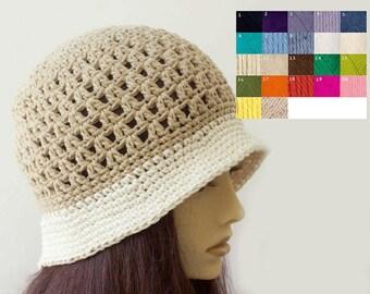 Custom Bucket Hat, Autumn, Summer Sun Hat,  Cotton Hat,  Vegan  Hat, Brim Hat, Brimmed Hat
