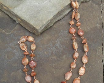 Summer Days - Sunstone & Copper Necklace