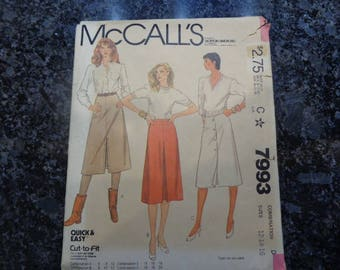 Vintage McCall's 7993 skirt pattern