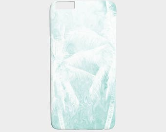 Cell Phone Case Design 54 palm tree teal blue white - Iphone 7, 6/6s Plus, 5/5s, Samsung Galaxy S7, S6, Edge, S5, S4, S3 art by L.Dumas