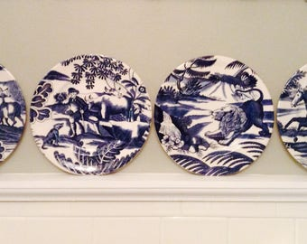 Vintage Tiffany Menagerie Plates