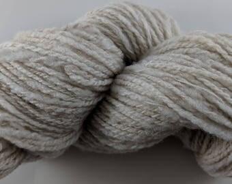 Soft Shetland Wool Handspun Yarn - Fawn - 144 yards Farm Raised