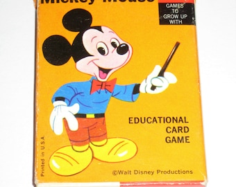 Vintage Mickey Mouse Card Game