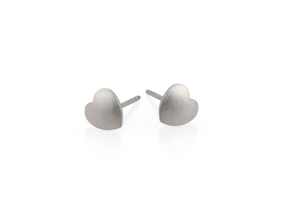 Heart Titanium Stud Earrings, 100% Hypoallergenic, Sensitive ear