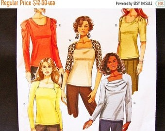 on SALE 25% Off Womens Tops Pattern Misses size 14 16 18 20 UNCUT 6 Style Blouses Simple to Sew Butterick Pattern