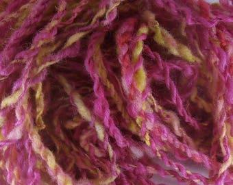 Framboisine: handspun art yarn
