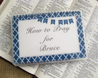 How to Pray for Your Husband - PERSONALIZED Set, Spiral-Bound, Laminated Prayer Cards