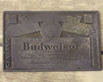 Distressed Budweiser Belt Buckle Vintage Beer Brew Alcohol Country Western Bud