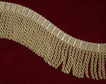 "Gold Bullion Fringe 3"" wide by 1 yard long Thick Luxurious Lustrous BTY"