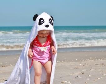 Yikes Twins Panda Hooded Towel