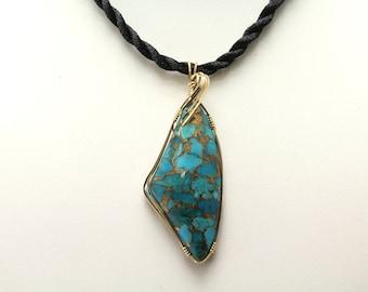 Mojave Turquoise Pendant.Listing 534837550