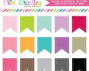80% OFF SALE Digital Scrapbooking Flags Clipart Clip Art Personal and Commercial Use