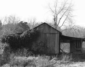 Weathered, Barn, Henryville, Indiana, Clark County, Fine Art, Photography, Print, Glossy 8 x 10, No 5