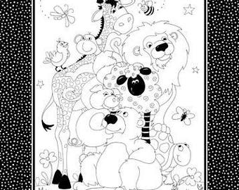 Color Me Cloth Book Panel and Fabric Markers Kit by Susybee 24 x 42 inches