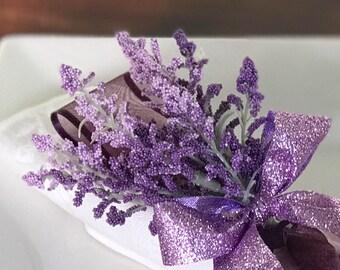 Napkin Ring - Purple Lavender - Wedding Decoration - Wedding Showers - Easter