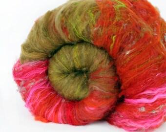 Sgt. Pepper 3.4 oz  Wool - Merino // Art Batt // Wool Art Batt for spinning or needle felting