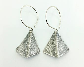 Sterling silver earrings - silver jewelry - silver leaves - leaf earrings - sterling silver jewelry - silver accessories - handmade jewelry