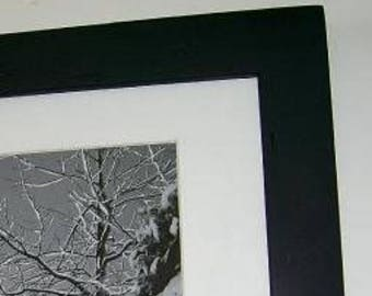 12x12 Picture Frame Satin Black with Acrylic Glass Backing and Mounting Hardware