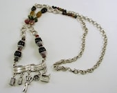 RESERVED LISTING for Diane. Tourlamin and Chain Sewing Charm Necklace