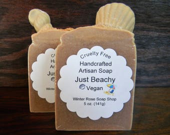 Just Beachy - Vegan - Cold Process - Scented (Phthalate Free) - Handcrafted - Artisan Soap