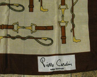 Vintage Pierre Cardin Equestrian Scarf - Made in Italy