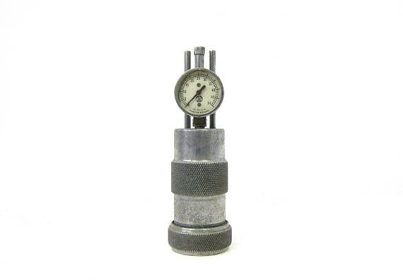 Vintage Silver Meter Industrial Pressure Bastian Blessing Calcium Gauge with Bottle Steampunk shelf display Sculpture Piece