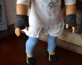 Doll Clothes - Boy or Girl Doll - Wristwarmers for 18 inch  - Fingerless Mitts Gloves - 4 colors to choose from - fits American Girl