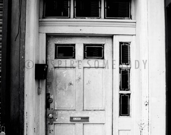 THE NEXT CHAPTER 8X12 Abandoned Door Black and White Fine Art Print