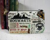 Hogwarts Pouch, Harry Potter Pouch, Magic School Pouch, Zipper Pouch