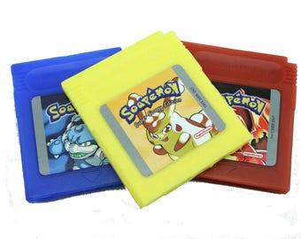 Soapemon Gameboy Cartridge Soap Set, Retro Video Game Geek Gift