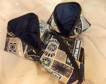 Sweetpea Pod Zippered Pouch~Star Wars Pouch~Blue and Black Pouch~Zippered Pouch~Coin Purse~Zippered Bag~Small Organizing Pouch