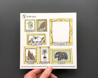 Y is for You - Original Artwork from An A to Z Treasure Hunt