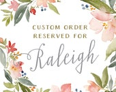 Reserved for Raleigh - Tuscan Impressions Watercolor Wedding Invitation Sets