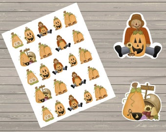 Fall Stickers, Halloween Stickers, Perfect For The Erin Condren Planner, Stickers, Planner Stickers