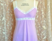 Lavender Pink Lingerie Organic Cotton Bamboo Women's Lingerie Full Slip Dress Extender or Sexy Nightie Sleepwear Eco w/ your choice of lace