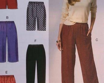 Misses Pants or Shorts Pattern Mccalls M6843 Misses Size Large to XXLarge Plus Size Misses Pants and Short Pattern