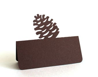 Pine Cone Place Cards, Thanksgiving, Thanksgiving place cards, Thanksgiving dinner, Pine cone escort card