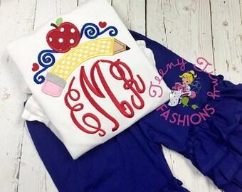 SALE Back to school shirt ~ first day of school ~  kindergarten shirt ~ Back 2 School shirt ~ princess ~ preschool ~ 1st day of school