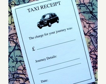 ON SALE Vintage Journey Taxi Receipts for Altered Art One Dozen