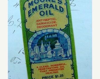 ONSALE Rare Antique 1930s Medical Germicide Label