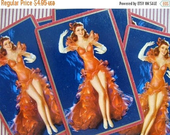 ONSALE 5 Antique Pin ups Gorgeous  Sexy Pin Up Girl Card Lot
