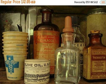 ONSALE Vintage Antique Medical Glass Eye/Ear Dropper Bottle